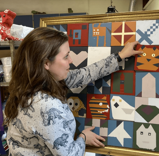Krystal Hewer with Baby Barn Quilts