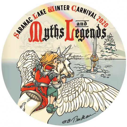 Saranac Lake Winter Carnival 2020 Button