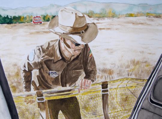 painting of Ranger Bissonette