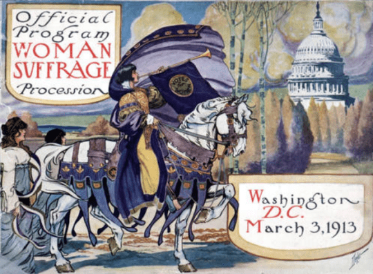 woman suffrage official program illustration