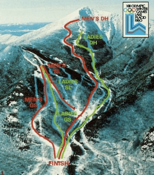 1980 Whiteface Olympic Trail Map