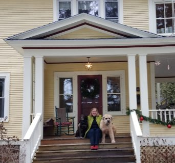 Homeowner Hannah Hanford at her home in Saranac Lake provided by AARCH