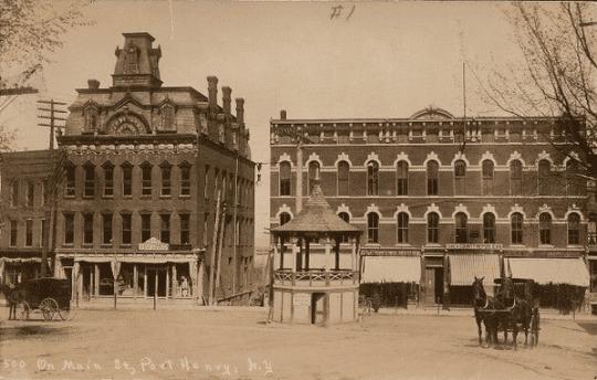 Main Street Port Henry around 1900 provided by Whallonsburg Grange