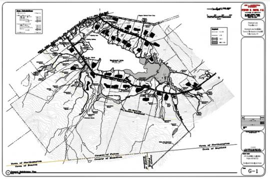Woodward Lake Development map