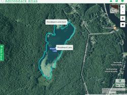 Woodward Lake courtesy Adirondack Atlas