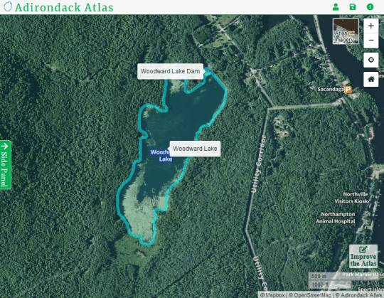 Woodward Lake courtesy Adirondack Atlas