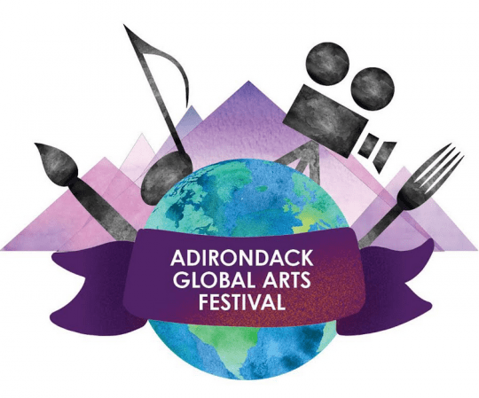 adirondack global arts festival logo