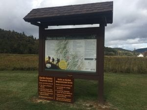 Blueberry Mountain Trail sign