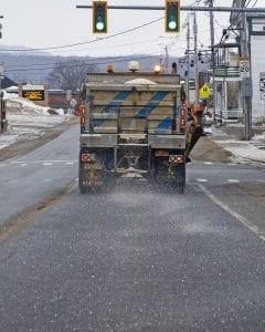 road salt truck