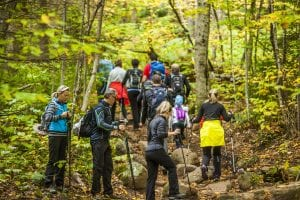 Crowds of hikers in the high peaks of the Adirondacks
