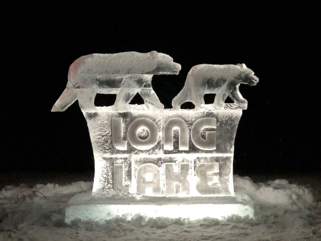 Long Lake ice sculpture