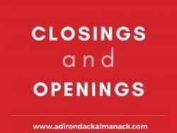 openings and closings