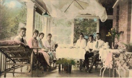 Patients Sitting at Ray Brook Sanatarium