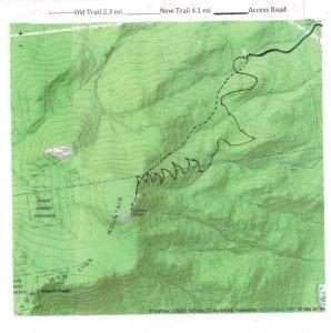 Lyon mountain trail map