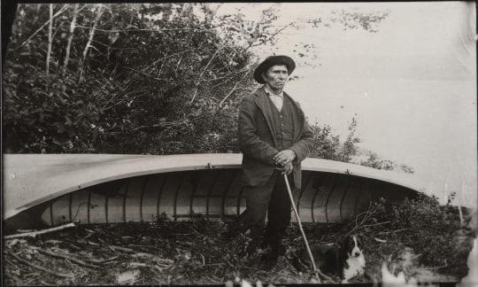 Native American Guide Mitchell Sabattis at Indian Lake, 1886. Courtesy of the Saranac Lake Free Library.