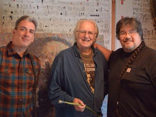 Dave John and Don Fadden at Six Nations Iroquois Cultural Center