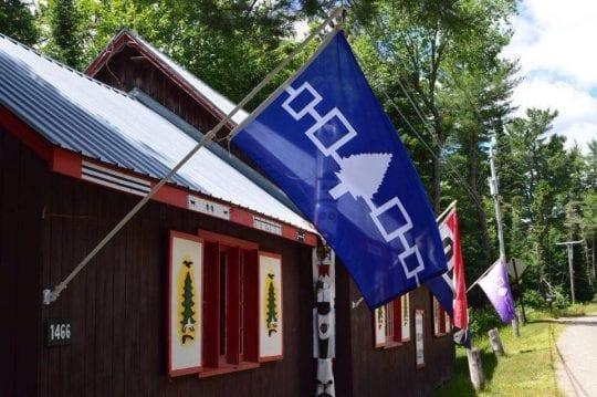 Six Nations Iroquois Cultural Center in Onchiota, NY.