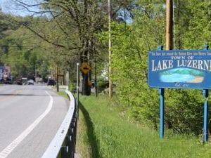 Lake Luzerne sign