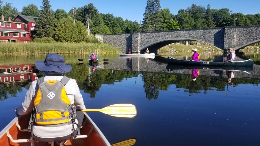 canoes on the ausable river