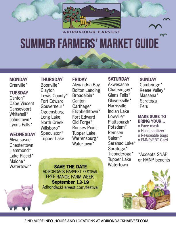 farmets markets list