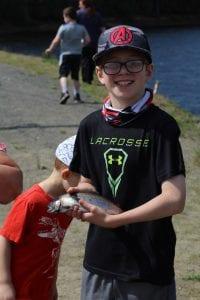 2nd place winner of kids long lake fishing derby
