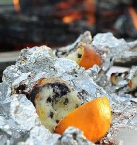 campfire orange blueberry muffins