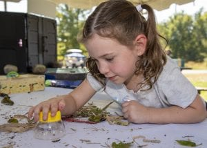 girl at summer nature program