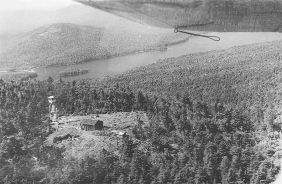 aerial view of Kempshall Mountain