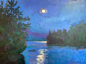 painting of the moon by holly friesen