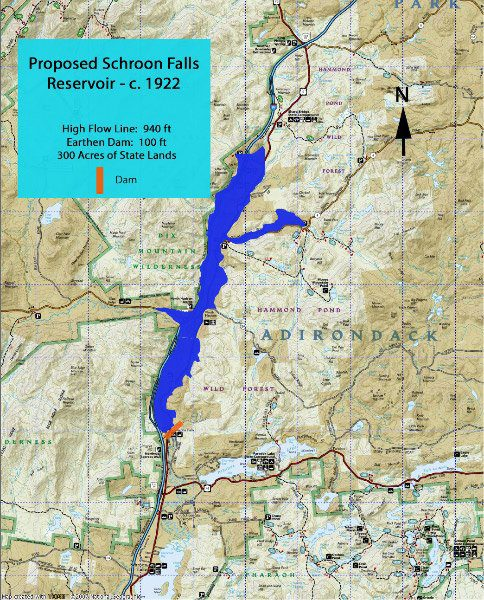 Map of The Great Schroon Lake ( Rick Rosen )