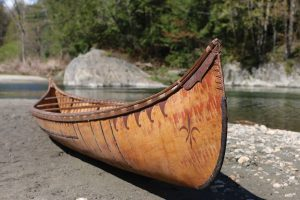 birchbark canoe built by henri vaillancourt