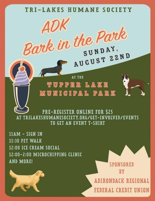 ADK Bark in the Park Flyer