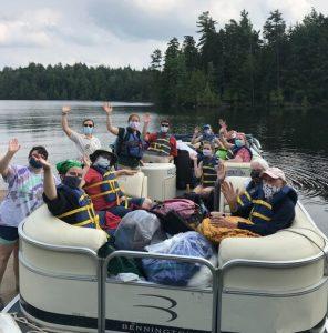 eagle island campers on lake