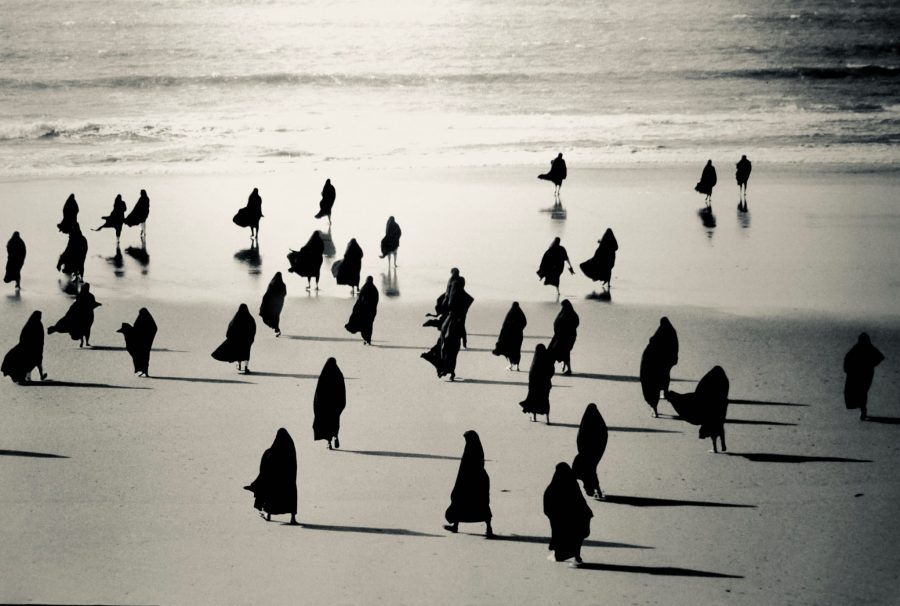 shirin neshat's artwork for a womans view art show at the adk history museum