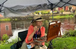 Susan Painting during the ADK PAF
