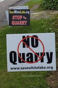 white lake quarry